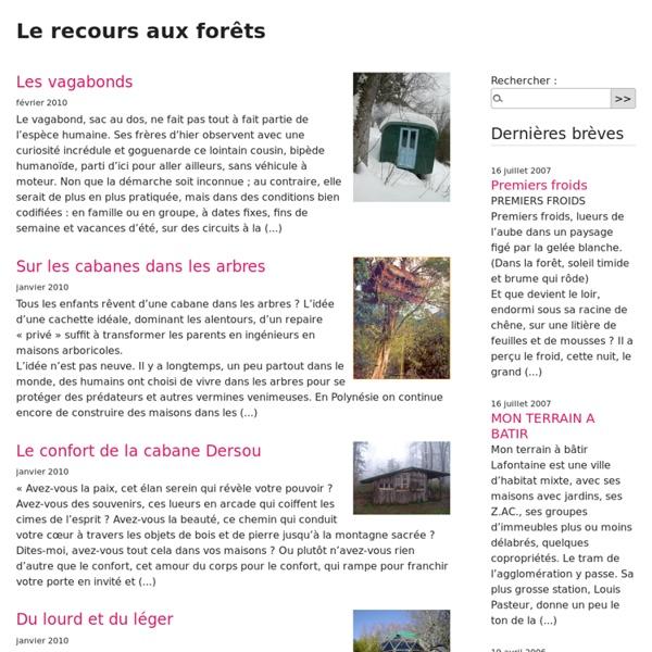 Le recours aux forêts