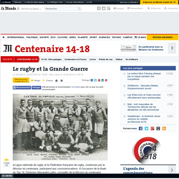 Le rugby et la Grande Guerre