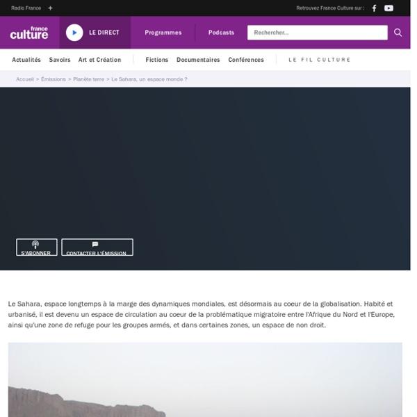 Le Sahara, un espace monde ?