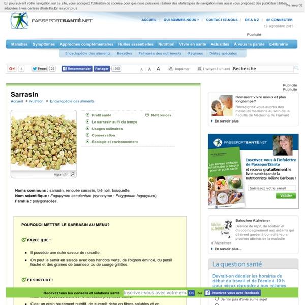 Le sarrasin, un prébiotique