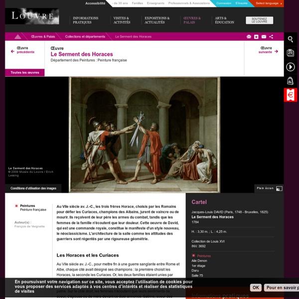 Le Serment des Horaces - Louvre