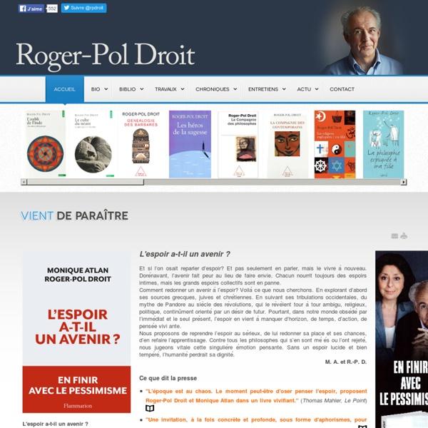 Le site de Roger-Pol Droit