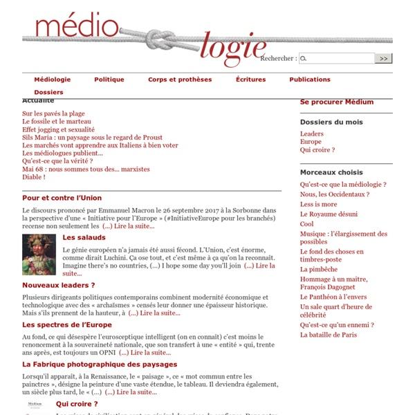 Le site de la Médiologie