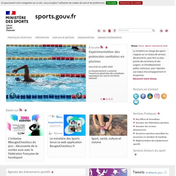 Le site du ministère de la Ville, de la Jeunesse et des Sports