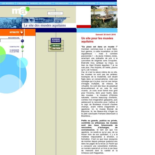 Le site des musées aquitains