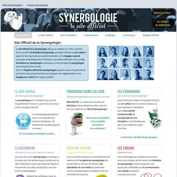 La Synergologie: Le site officiel - ACCUEIL