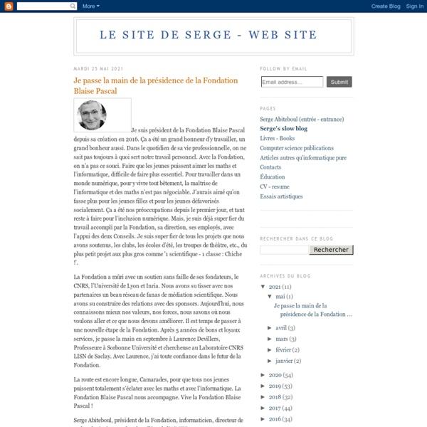Le slow blog de Serge