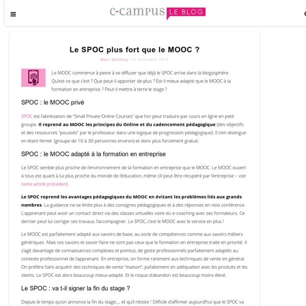 Le SPOC plus fort que le MOOC ?