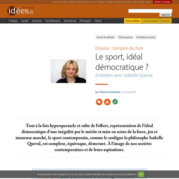 Le sport, idéal démocratique