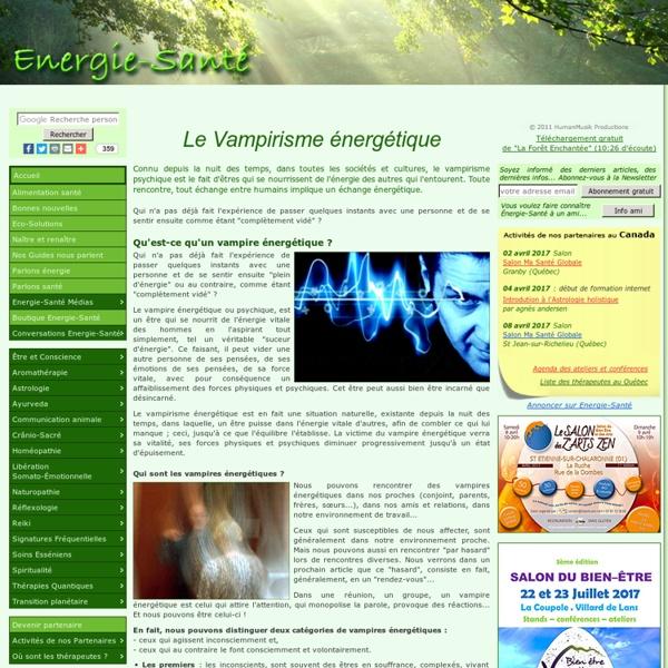 La vampirisme énergétique