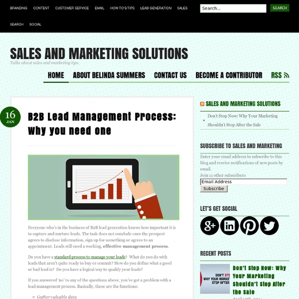 B2B Lead Management Process: Why you need one