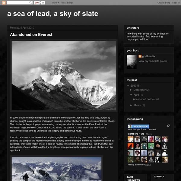 Abandoned on Everest