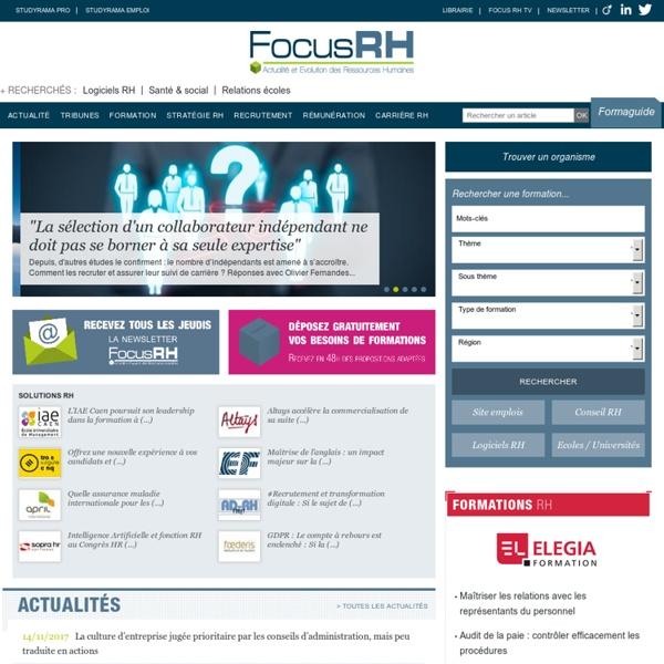 Focus RH - Le site leader de l'actualité RH auprès des décideurs RH