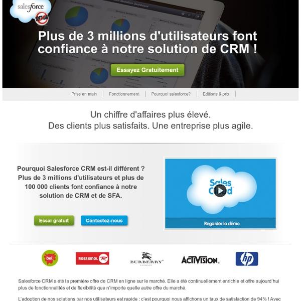 Le Leader duCRM et du Cloud Computing