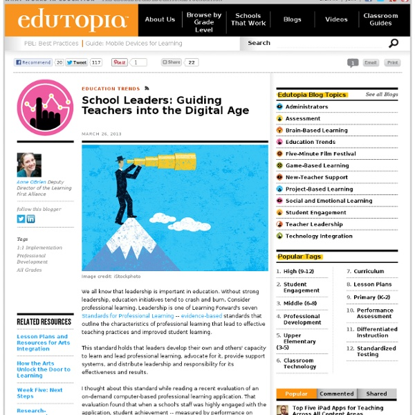 School Leaders: Guiding Teachers into the Digital Age