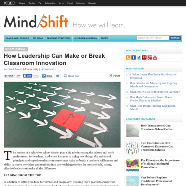 How Leadership Can Make or Break Classroom Innovation