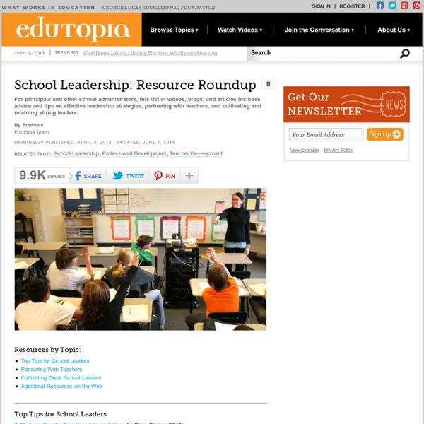 School Leadership: Resource Roundup