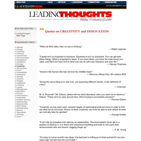 LeadingThoughts - LeadershipNow.com