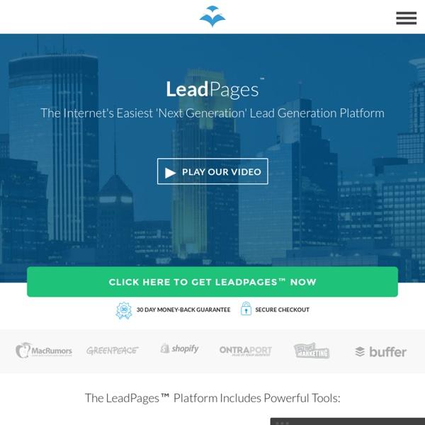 Software - mobile responsive landing page generator