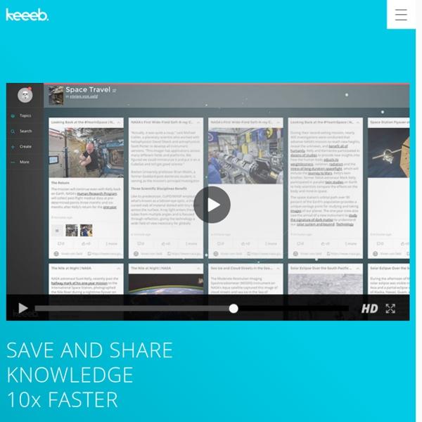 Keeeb – organize and share inspiration like never before!