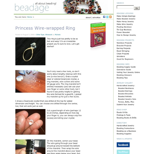 Learn Beading · Princess Wire-wrapped Ring