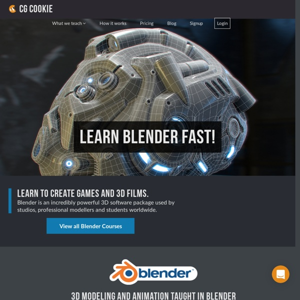 Great Blender tutorials and training