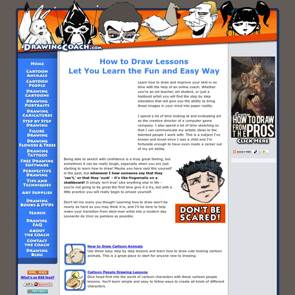 Learn How to Draw - Step by step lessons and videos