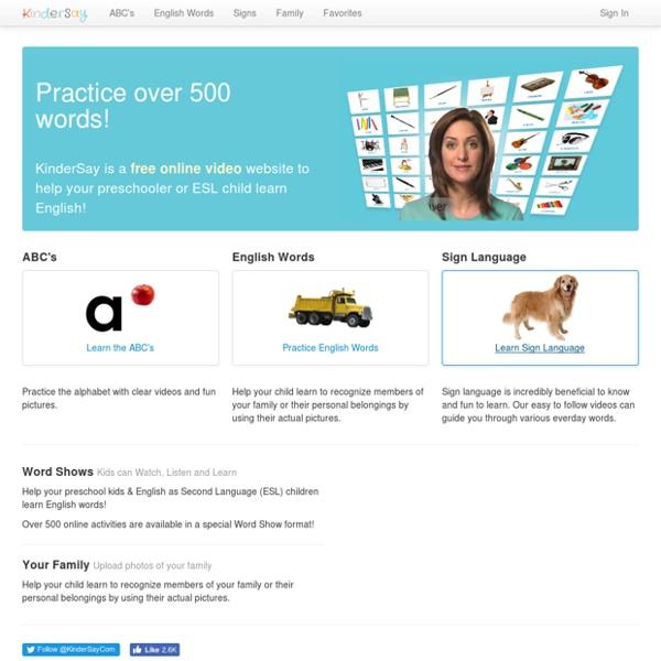 Learn English for Kids - Free - KinderSay