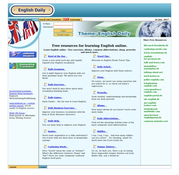 Learn English Online with ENGLISH DAILY