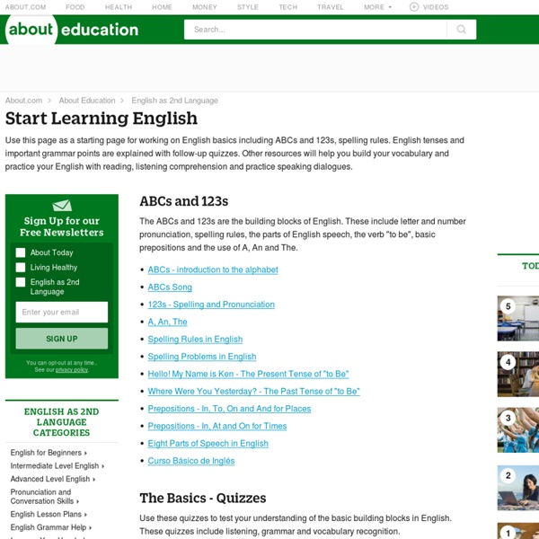 when to start learning english Want to teach english online learn what you need to do to get started so that you can become an independent, online teacher  let's start with the software we .