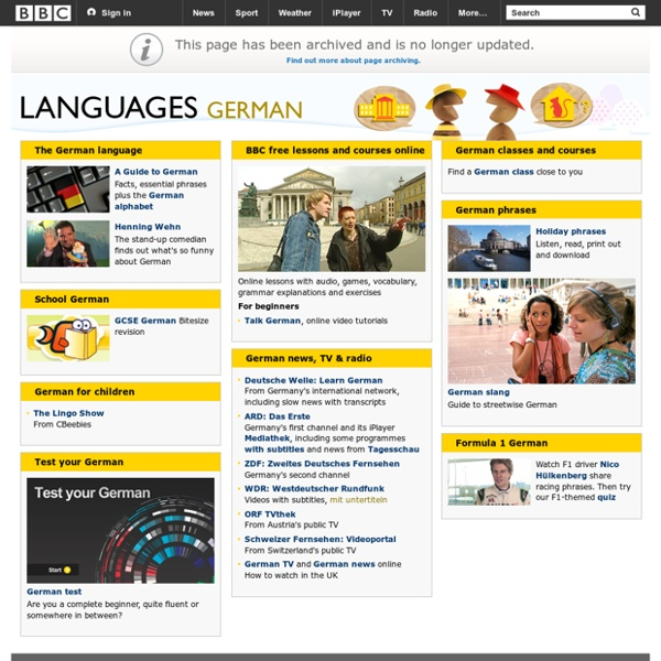 Learn German with free online lessons