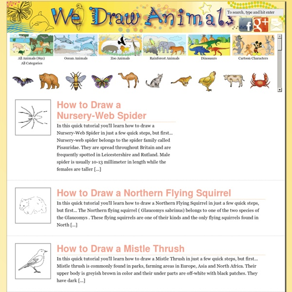 Learn How to Draw Animals – Step-by-Step