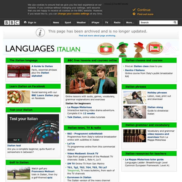 Learn Italian with free online lessons