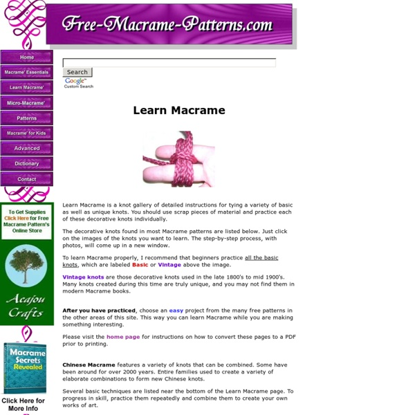 Learn Macrame Pearltrees