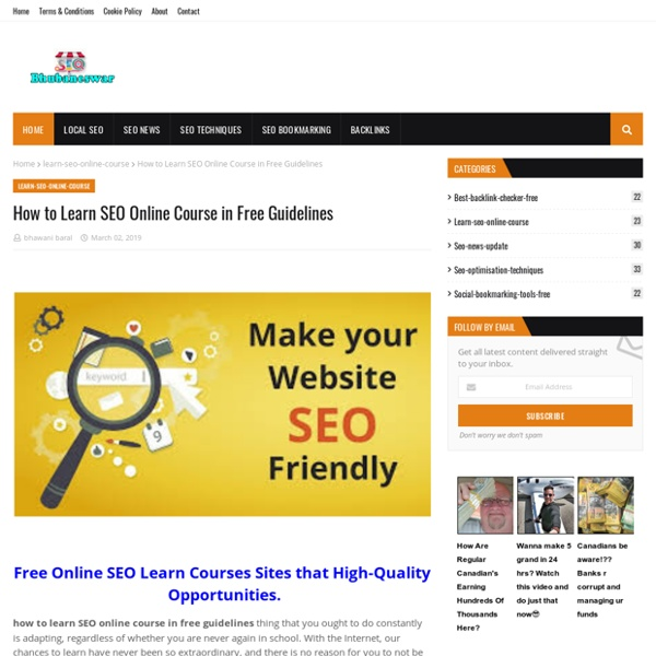 How to Learn SEO Online Course in Free Guidelines