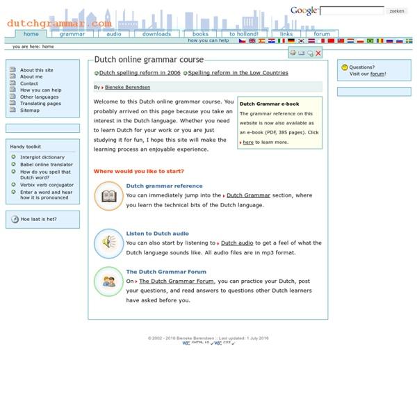 Online Dutch Grammar Course