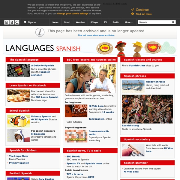 Learn Spanish with free online lessons