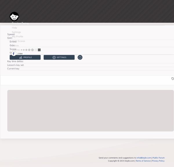 Keybr.com typing lessons