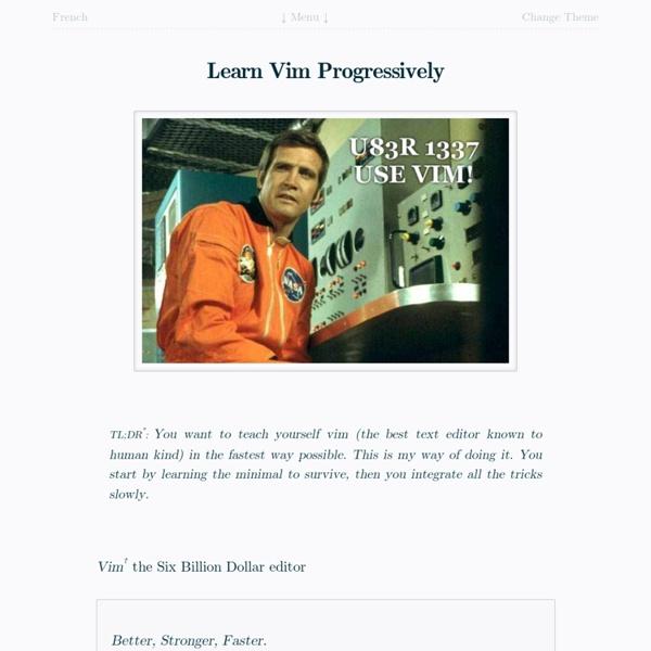 Learn Vim Progressively