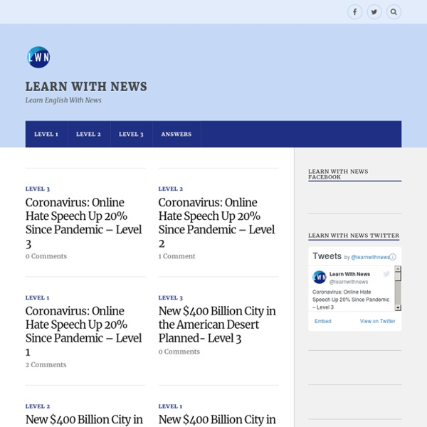 Learn With News – Learn English With News