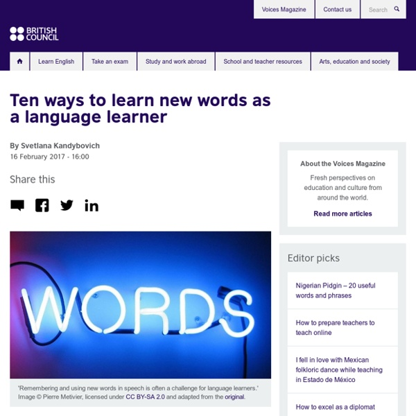 Ten ways to learn new words as a language learner