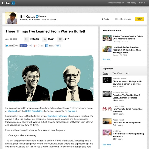 Three Things I've Learned From Warren Buffett