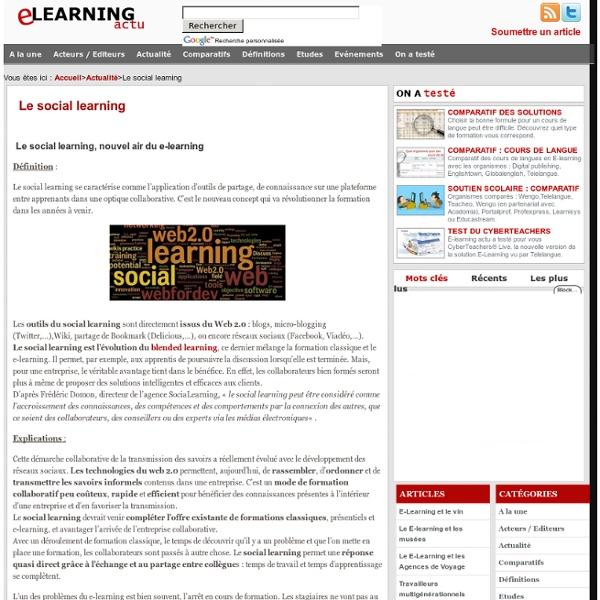Le social learning, nouvel air du e-learning