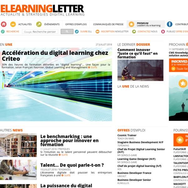 E-learning letter - actualité & stratégies e-learning