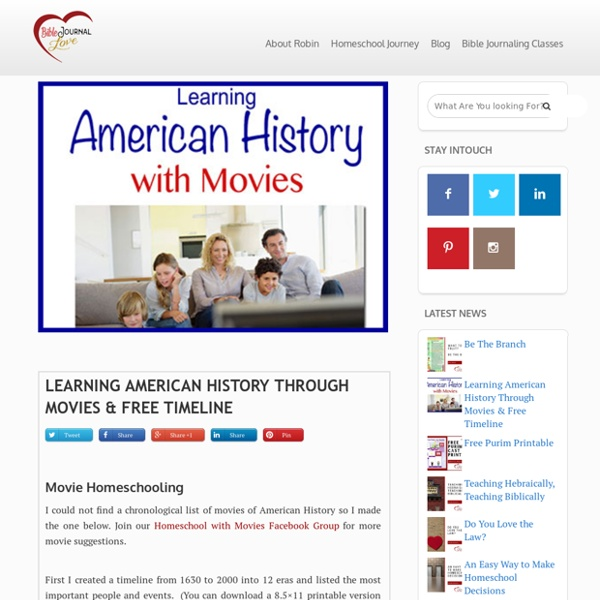 Learning American History Through Movies & Free Timeline