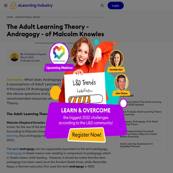 The Adult Learning Theory - Andragogy
