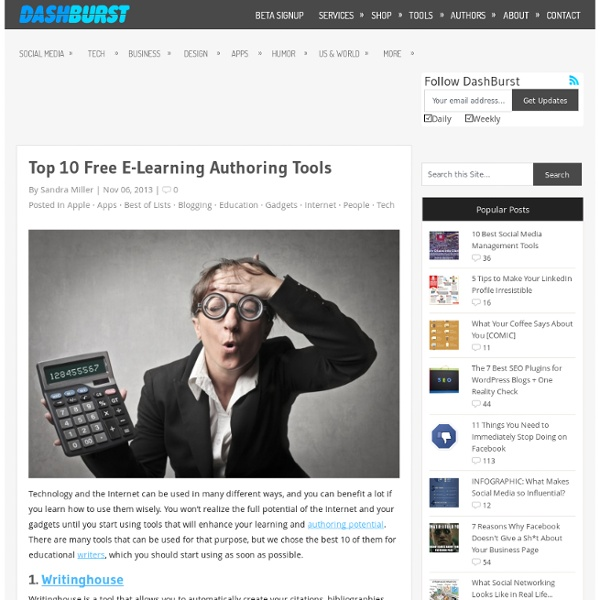 Top 10 Free E-Learning Authoring Tools