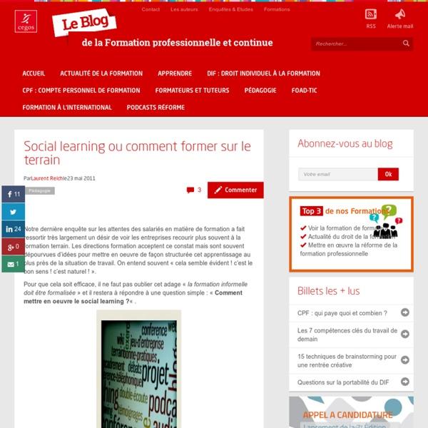 Social learning ou comment former sur le terrain