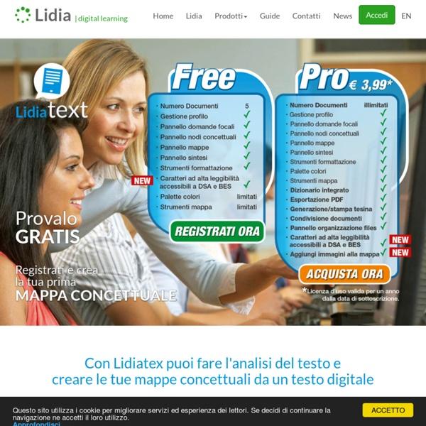 LIDIA Digital Learning - Crea la tua Mappa Concettuale da un testo digitale