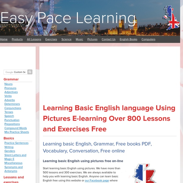 Learning basic English Learn English lessons books exercise free